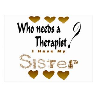 Hermana del terapeuta postal