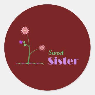 Hermana dulce pegatina redonda