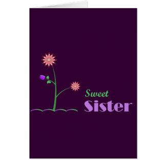 Hermana dulce tarjeta de felicitación