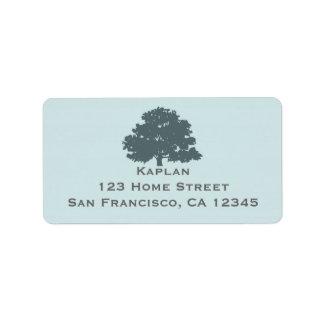 Hermana el árbol de la etiqueta de dirección de