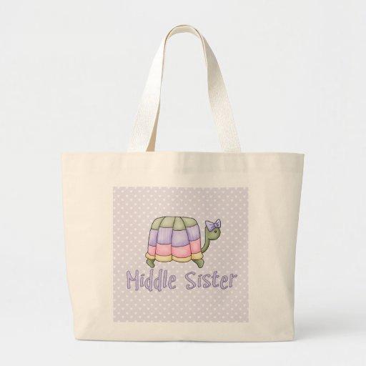 Hermana en colores pastel del centro de la tortuga bolsa de mano