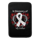 Hermana - en corazón del cáncer de pulmón de la me funda  MacBook