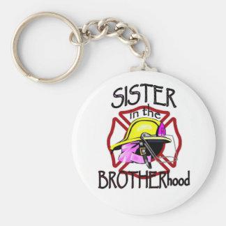 Hermana en fraternidad llavero redondo tipo pin
