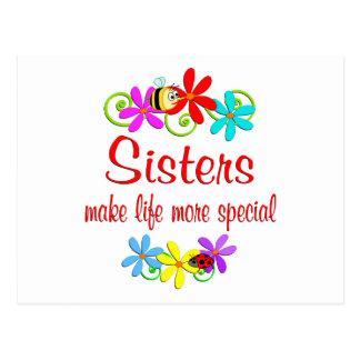 Hermana especial tarjeta postal