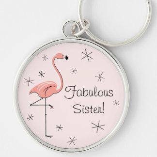"""Hermana fabulosa rosada del flamenco """"!"""" premio llaveros personalizados"""