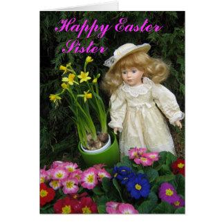 Hermana feliz de Pascua Tarjeton