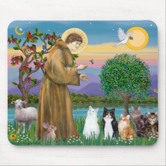 Hermana Frances que bendice 5 gatos Mousepad