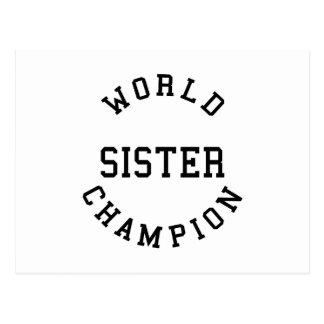 Hermana fresca retra del campeón del mundo de los
