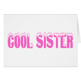 Hermana fresca (rosa) tarjeta de felicitación