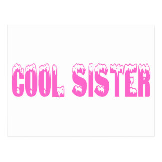 Hermana fresca (rosa) tarjeta postal