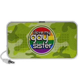 Hermana gay; camo verde claro, camuflaje mp3 altavoces