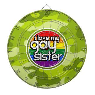 Hermana gay; camo verde claro, camuflaje tablero dardos