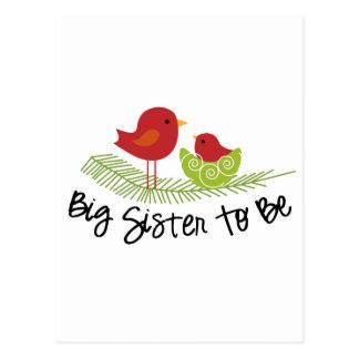 hermana grande a ser chirridos del navidad tarjeta postal