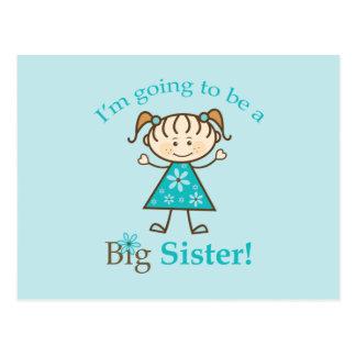 Hermana grande a ser figura del palillo tarjeta postal