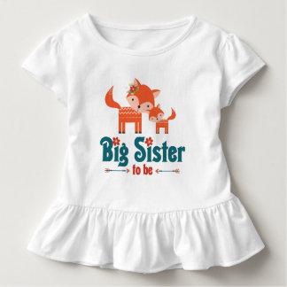 Hermana grande a ser zorros del arbolado playera de bebé