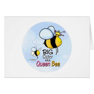 Hermana grande - abeja reina tarjeta