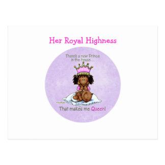 Hermana grande afroamericana del príncipe postales