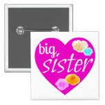 Hermana grande (botón cuadrado) pin
