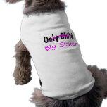 Hermana grande camiseta de mascota