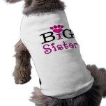 Hermana grande - camiseta del perro camisetas de mascota
