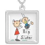Hermana grande con los regalos de pequeño Brother Pendientes Personalizados