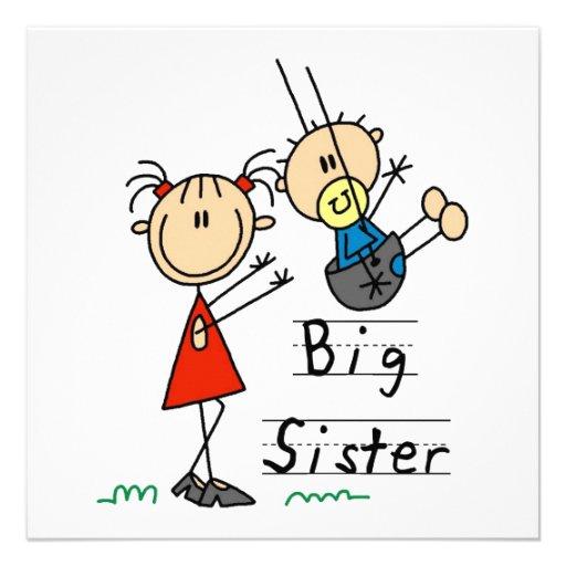 Hermana grande con los regalos de pequeño Brother Comunicados