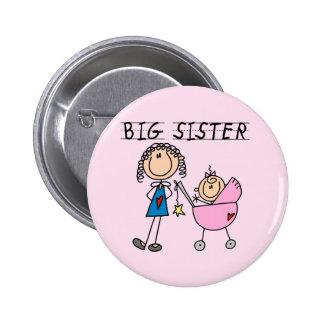 Hermana grande con pocas camisetas del SIS Pin Redondo De 2 Pulgadas
