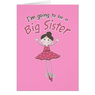 Hermana grande de la bailarina a ser tarjeta de felicitación