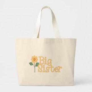 Hermana grande de la margarita amarilla bolsa tela grande