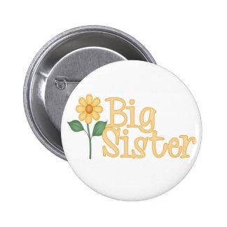 Hermana grande de la margarita amarilla pin