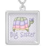 Hermana grande de la tortuga en colores pastel pendiente personalizado