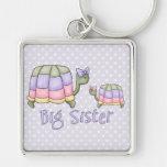 Hermana grande de las tortugas en colores pastel llaveros