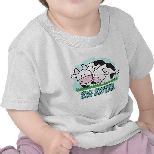 Hermana grande de las vacas lindas camiseta