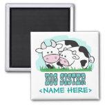 Hermana grande de las vacas lindas iman de nevera