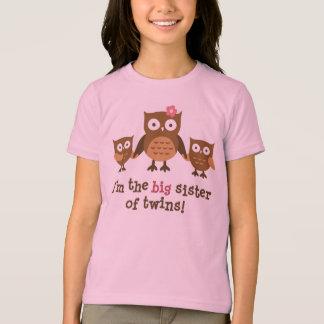 Hermana grande de los gemelos - camisetas del búho poleras