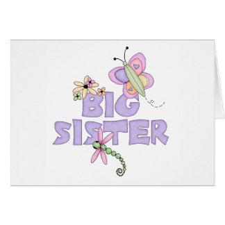 Hermana grande de los insectos lindos tarjeton