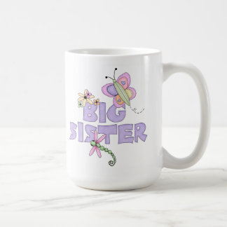 Hermana grande de los insectos lindos taza básica blanca