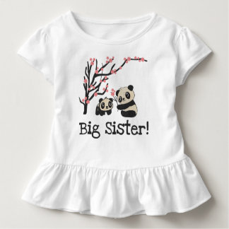 Hermana grande de los osos de panda playera de bebé
