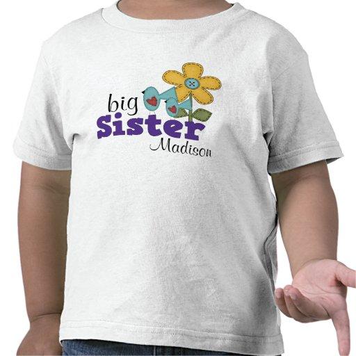 Hermana grande de los pájaros de la flor linda de  camiseta