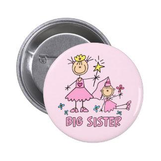 Hermana grande de princesa Duo del palillo Pin Redondo 5 Cm