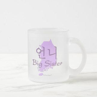 Hermana grande (de un chica) Corea Taza Cristal Mate