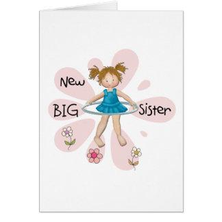 Hermana grande del aro de Hula nueva Felicitación