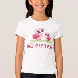 Hermana grande del búho adorable playera