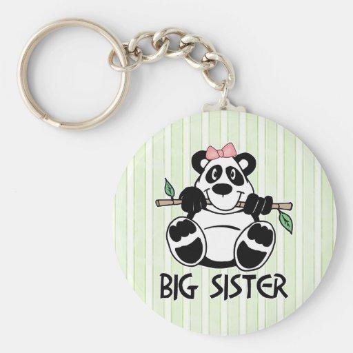 Hermana grande del chica de la panda llaveros personalizados