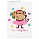 Hermana grande del mono felicitacion