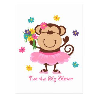Hermana grande del mono postales