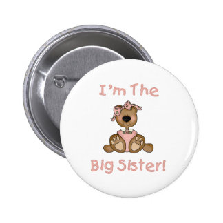 Hermana grande del oso de peluche pin redondo de 2 pulgadas