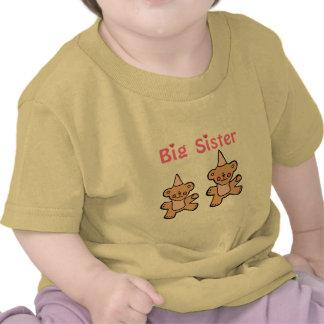hermana grande del oso de peluche camiseta