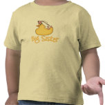 Hermana grande del pato amarillo camisetas
