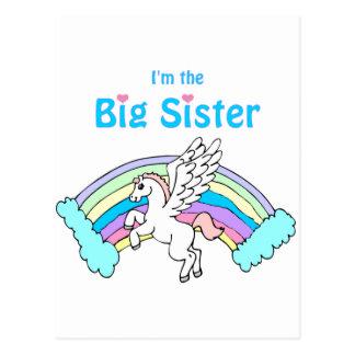 hermana grande del unicornio tarjetas postales